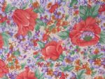 FLOWER MEDLEY CREAM - Fabric- POLY COTTON - Price Per Metre